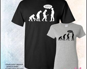 Go back we messed up! evolution t shirt, tshirt • Mens #5000 • Ladies #5000L