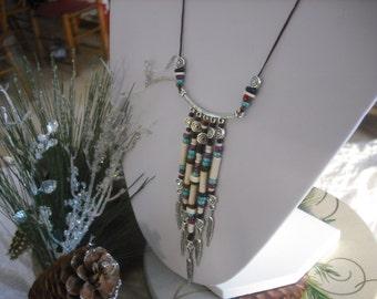 Necklace chandelier beaded