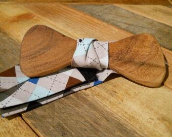 Wooden Bow Tie - Mesquite