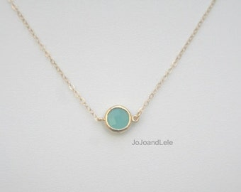 Mint green wedding jewelry, Blue green necklace, mint green gem necklace, pendant necklace
