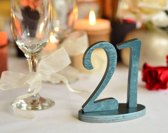 Wood Table Number-  Weddings / Decor - Table Numbers- Table Number \ 1 to 20 set \