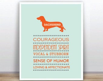 BUY 2 GET 1 FREE Dachshund  Dog Retro Poster  Instant Download 8x10 Printable Wall Art