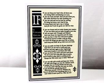 IF Poem Greeting Card by Rudyard Kipling