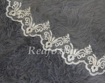 1 Tier Wedding Veil, Bridal Veil, cathedral veil, Alencon Lace veil 3 meters veil, white veil, ivory veil, - lace veil - landed veil
