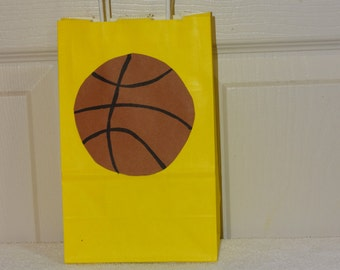 10 Basketball Favor/Candy/Goodie Bags