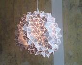 Geodesic Hanging Light Sculpture