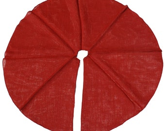 """Burlap / Jute Tree skirts with finished edges 46-48"""" round (TS48-xx) 4 Colors gives a primitive, urban, country Great for Christmas trees"""