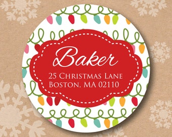 Items similar to Holiday Wrap Around Address Labels - Return ...