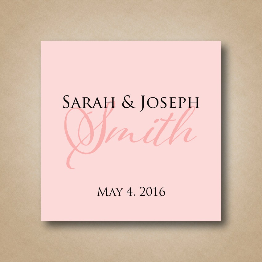 square wedding favor stickers personalized wedding favor