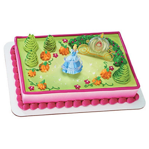 Cinderella And Godmother Cake Decorating Kit : Cinderella Magic Cake Topper kit Birthday Party Supplies toys