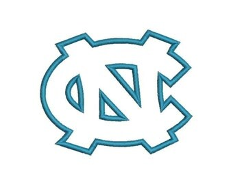 NC North Carolina Applique Embroidery Design