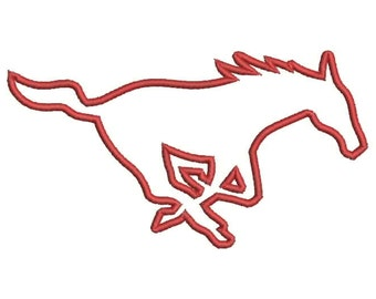Mustangs Applique Embroidery Design