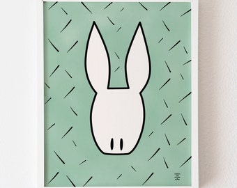 White Rabbit A3 Print