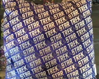 Star Trek cushion upcycled repurposed