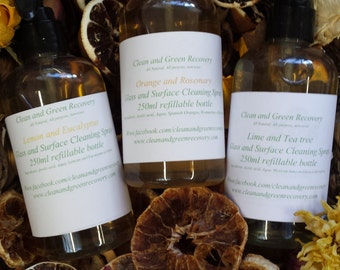 All Natural, Non toxic, Handmade Cleaning Sprays with real fruit!