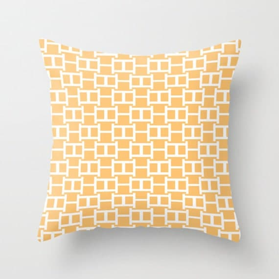Goldenrod Throw Pillow : Geometric Pattern Throw Pillow Goldenrod by HLBhomedesigns on Etsy
