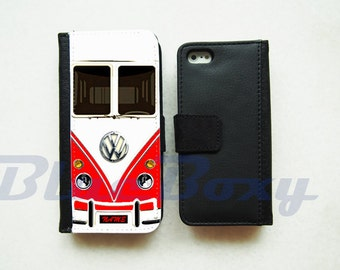Mini Bus Red Phone Case - iPhone X, iPhone 8, 8 Plus, iPhone 7, iPhone 6 Case, iPhone 6s, iPhone 6 Plus, iPhone 5/5s, iPhone 4/4s, Flip Case
