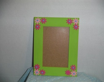 8x6 Picture frame with pink flowers
