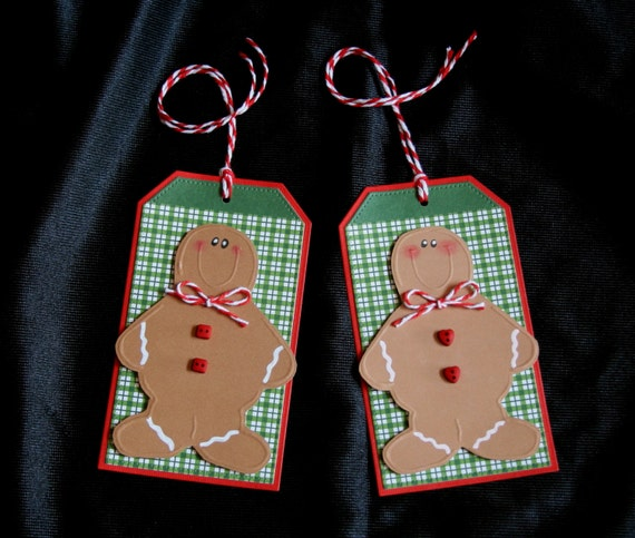 Items Similar To Gingerbread Boys Holiday Gift Tags