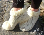 Crochet Pixie Boot Slippers made to order