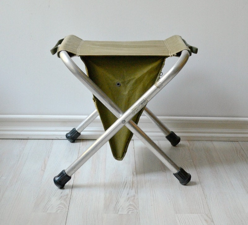 Vintage Canvas Folding Stool By Houtz Amp Barwick Camping