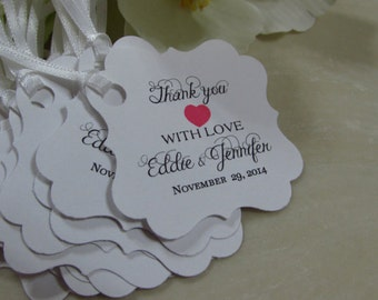 Personalized Favor Tags 2x2'  Wedding Favor Tags,Bridal Shower tags, Thank You tags, Favor tags, Gift tags
