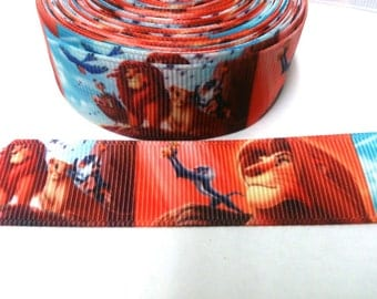 Lion King Grosgrain Ribbon by the yard for hairbow, embellishments, trimming, scrapbooking
