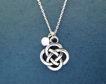 Celtic, Knot, White, Pearl, Silver, Necklace, Celtic, Symbol, Irish, Knot, Necklace, Modern, Dainty, Minimal, Gift, Jewelry