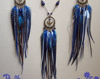 The Winged One ornament, necklace and Lapis Lazuli earrings