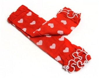 Valentine Red heart  leg warmers  Ready to ship