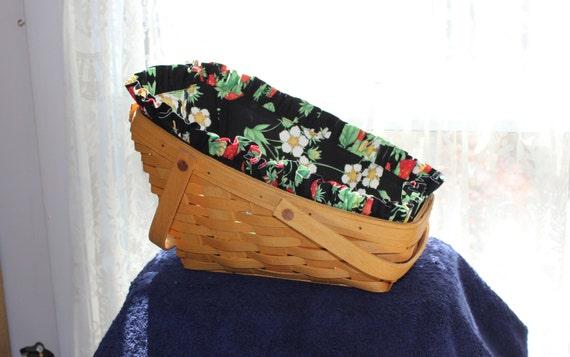 Handmade Longaberger Basket Liners : Longaberger medium vegetable basket liner by farmersmarket