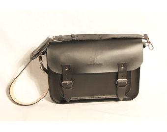 Black Satchel Leather Satchel Leather Messenger Black Leather Satchel for Men Men Satchel Handmade in Britain