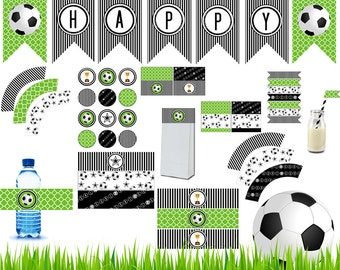 Soccer Printable, Soccer Party Printable,Soccer Decoration, Soccer Party, Water bottle,Label, Wrapper, Instant download