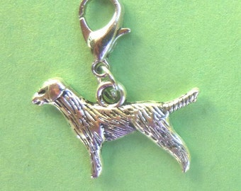 Dangle Lab or Retriever for Bracelets, Floating Charm Pendants, Necklaces & Keychains  D012