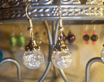 Clear French Hook Earrings
