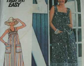 Misses Sun Dress Size 12 VINTAGE Butterick Pattern 4821 Fast & Easy to Sew UNCUT Pattern from 1970's Lovely Pattern