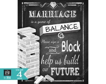 Sign a Block Wedding Sign - Print instantly after purchase - 4 sizes available - instant download digital file - DIY - Rustic Collection