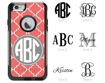 iPhone Otterbox Commuter Series Case for iPhone 5/5s/SE, 6/6s, 6 Plus/6s Plus, 7, 7 Plus Personalized Monogrammed Moroccan Custom Color 1049