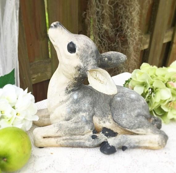 Garden Decor Deer: Baby Deer Fawn Garden Statue Lawn Ornament Figurine Spotted
