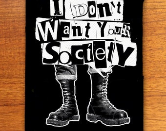 Anti Society punk patch, punk patches