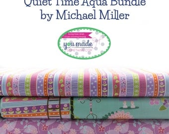 Quiet Time Aqua Bundle by Michael Miller