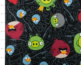 Angry Birds Black by Davids Textiles