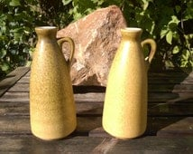 Dümler & Breiden, Set of Jug Vases, Ocher, Nr 375 18, West German Pottery, 1970s