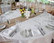 READY TO SHIP~Burlap Hessian Table Runner ~Wedding Table Decor~ Wedding Centerpiece Inspired4u