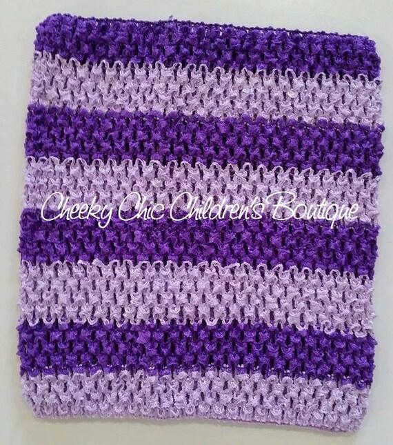 9x8 inch PURPLE & LAVENDER Stripe Crochet Tutu Dress Tube Top [CB9PULV]
