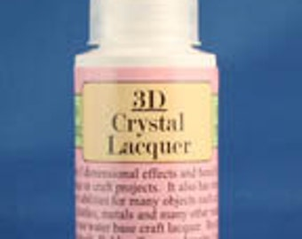 3D Crystal Lacquer 2oz,  Qty - 1
