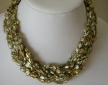 Adjustable Braided Gold Color Necklace