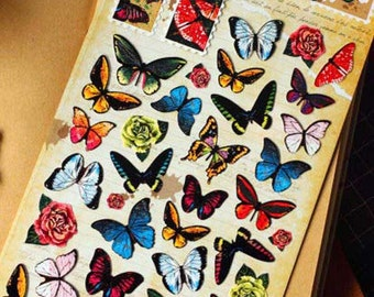 Korean Scrapbook stickers-- Butterfly Stickers