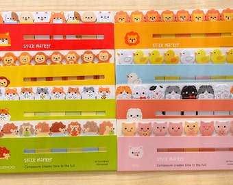 Yuru Cute Animals Stickers Post-it Filofax 8 styles SP007