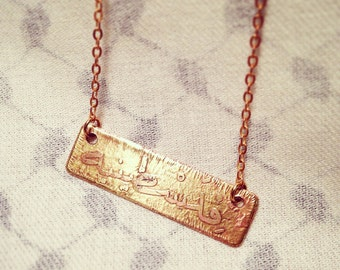 Custom Brass Necklace with Names